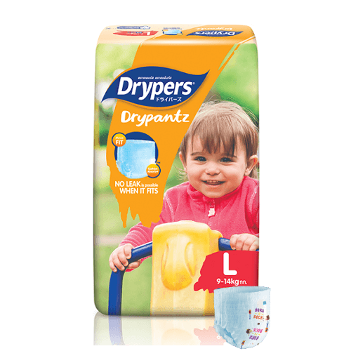 Drypers Drypants Size Large (9 – 14 kgs) – Packs