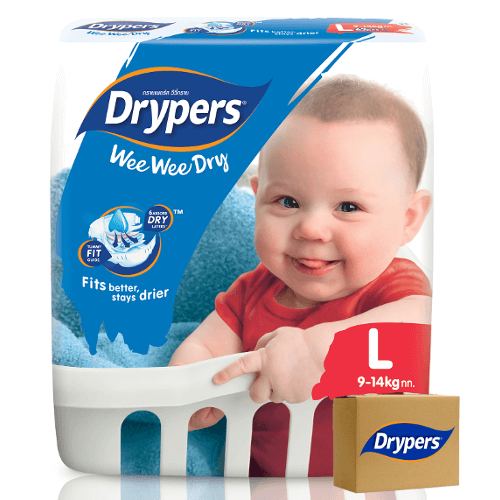 Drypers Wee Wee Dry Size Large (9 – 14 kgs) – Bulk Boxes