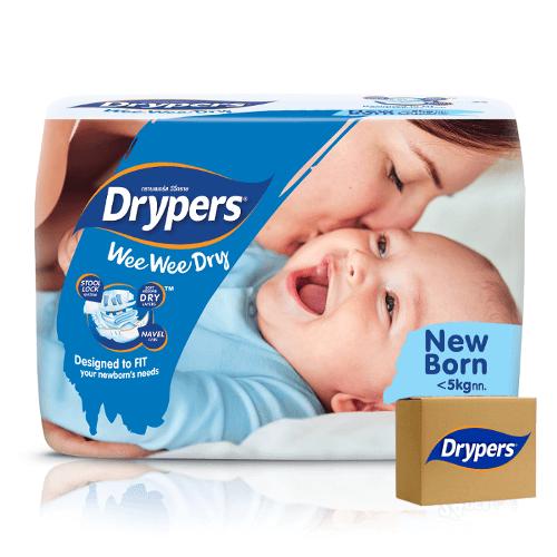 Drypers Wee Wee Dry Newborn (0 – 5 kgs) – Bulk Boxes