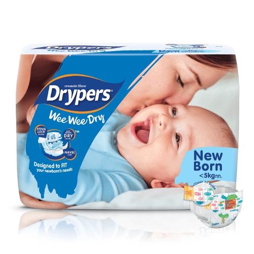 Drypers Wee Wee Dry Newborn (0 – 5 kgs) – Packs